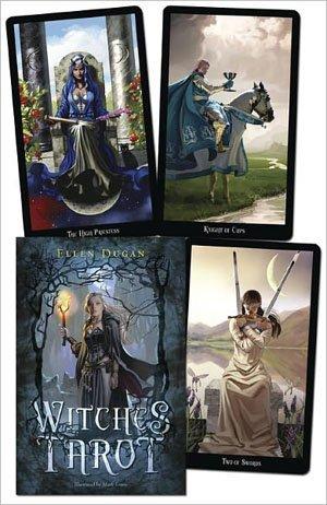 Party Games Accessories Halloween Séance Tarot Cards Witches tarot deck & book by Ellen Dugan