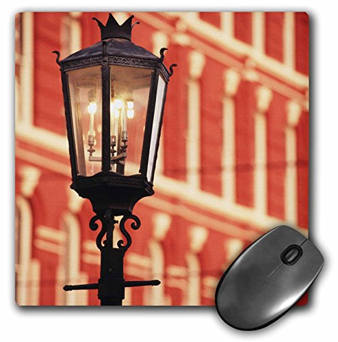 Illuminated street light, Galveston, Texas, USA - US44 WBI0000 - Mouse Pad, 8 by 8 inches (mp_147149_1)
