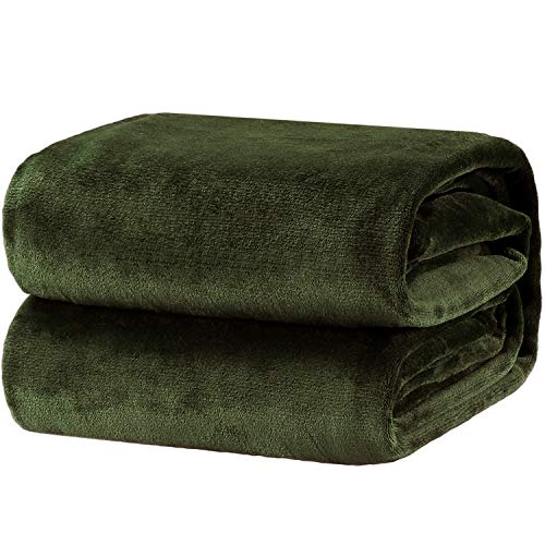 Bedsure Fleece Blanket Throw Size Oliver Green Lightweight Super Soft Cozy Luxury Bed Blanket Microfiber