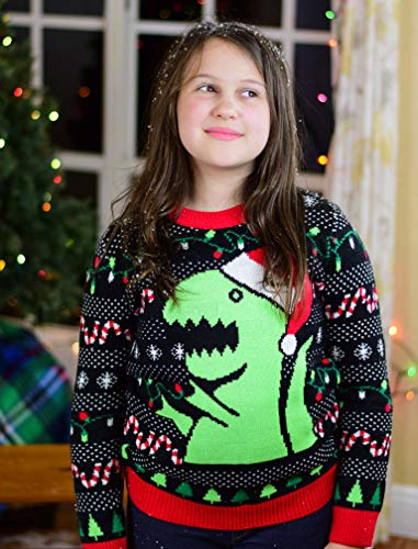 Big Trex Santa Ugly Christmas Sweater Toddler Boys 2y 6y Funny