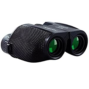 Binoculars for Bird Watching,10x25 Compact Binoculars,Folding High Powered Binoculars with Weak Light Night Vision Clear Bird Watching Great for Outdoor Activity and Concerts by Fayogoo