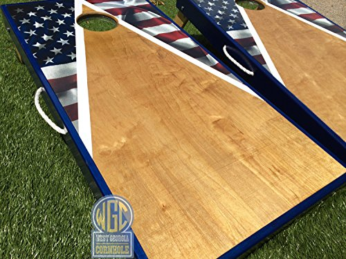 American Flag Triangle Cornhole Board Set by West Georgia Cornhole