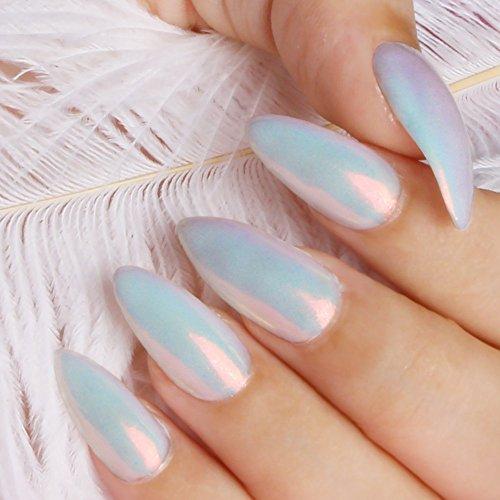 PrettyDiva 7 Jar Pearl Powder Mirror Effect Chrome Nail Powder Metallic Nail Manicure Pigment by Pretty Diva (Image #4)