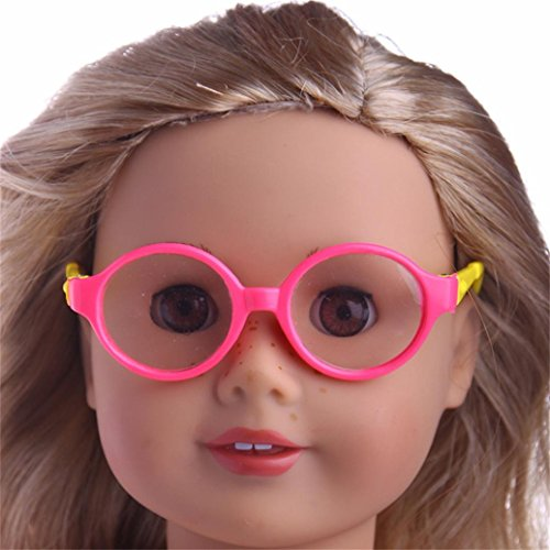 Witspace Stylish Plastic Round Frame Glasses For 18 In Our Generation American Girl Doll Sunglasses (Color - Sunglasses K Walker