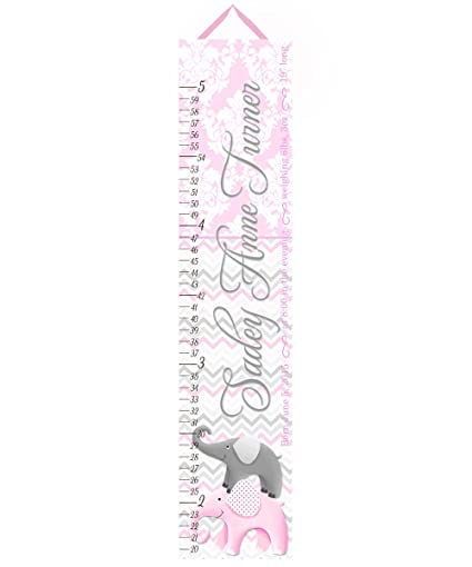 Amazon Toad And Lily Kids Canvas Birth Info Growth Chart Baby