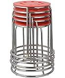 Da URBAN DISC Stack Stool (Red) (Set of 5)