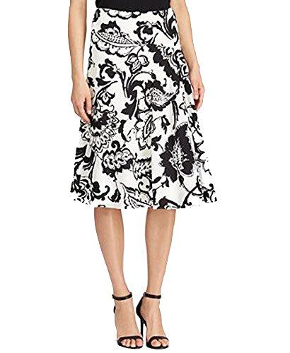 (Lauren Ralph Lauren Paisley-Print Crepe Skirt (PearlBlack, 6))
