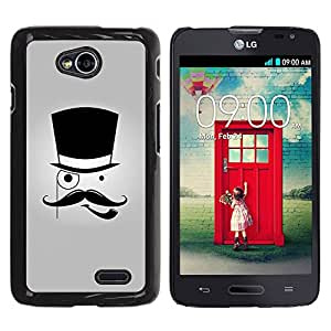Graphic4You Mustache With Hat Funny Design Hard Case Cover for LG Optimus L70 Dual