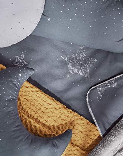 Petitpraia Etoile Couvre-lit + protège-lit pour lit de 70 cm avec rembourrage inclus