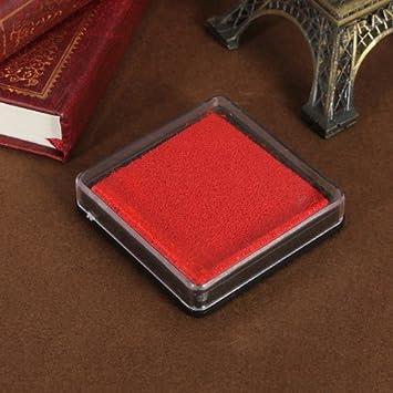 Tampón para sello-cojín carta documento rojo de la boda ...