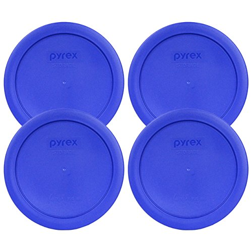 - Pyrex 7201-PC Round 4 Cup Storage Lid for Glass Bowls (4, Light Blue)