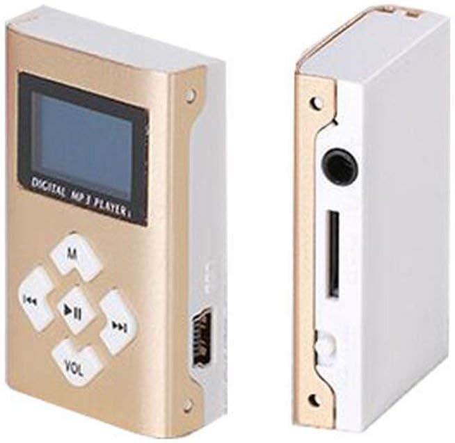 Reproductor de m/úsica para Auriculares Paperllong/® Reproductor de m/úsica MP3 port/átil con Pantalla LCD de 1.1Mini Clip Ranura para Tarjeta TF Reproductores de MP3 USB