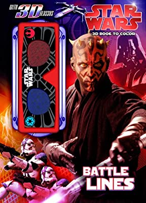 Bendon Publishing Star Wars: Battle Lines 3D Coloring Book (With 3-D Glasses)