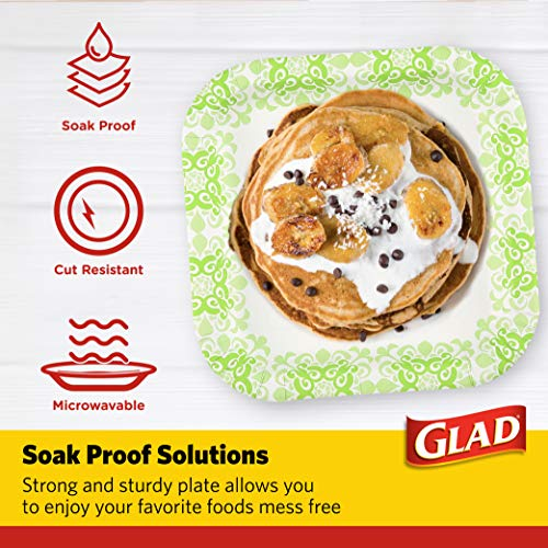 """Glad Tabletop Square Disposable Paper Plates for All Occasions 