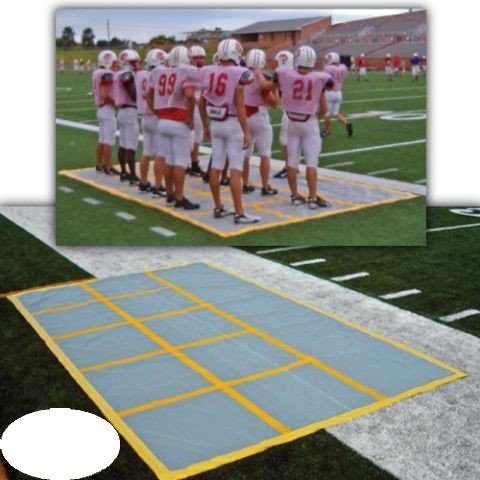 Huddle Zone Special Teams Mat for Play Calling Practice (Team Football Mat)