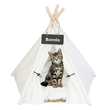 Amazon.com: Bonnlo Pet Teepee - Cama para perros y gatos ...