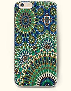 SevenArc Apple iPhone 6 Plus 5.5' 5.5 Inches Case Moroccan Pattern ( Green and Blue Moroccan Tile Pattern )