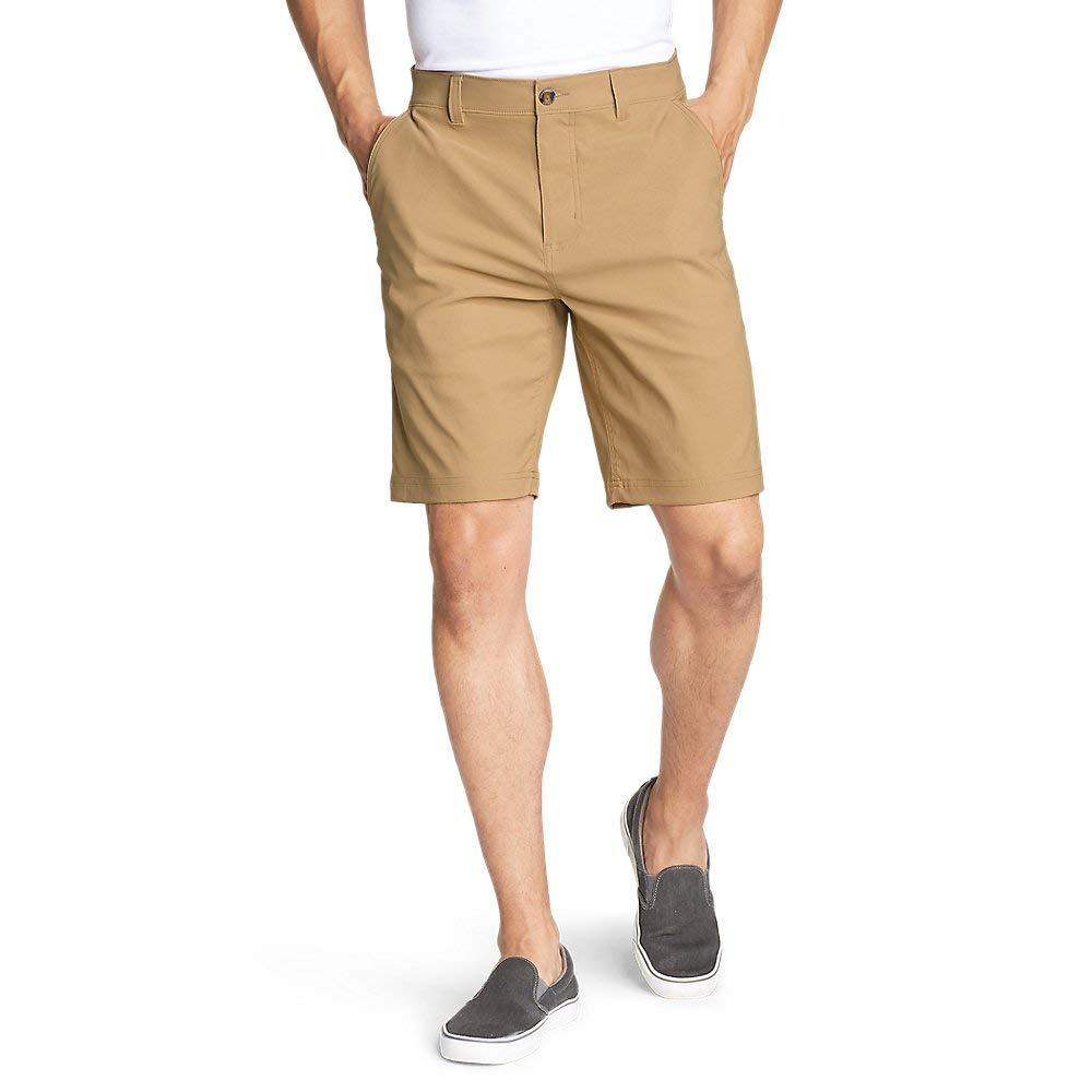 Eddie Bauer Men's Horizon Guide 10'' Chino Shorts, Saddle Tall 36