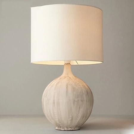 &Luz para Leer Lámparas de Mesa de cerámica - Sala de Estar Moderna Simple Ronda Mesa de Noche rústica Decorativa del Dormitorio del país Americano (Tamaño : Small): Amazon.es: Hogar