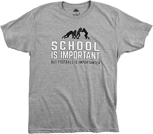School is Important but Football is Importanter | Funny Sports Unisex T-shirt
