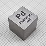 10mm Palladium Metal Cube 12.04g Full Density 99.9% with COA Element Pd Specimen