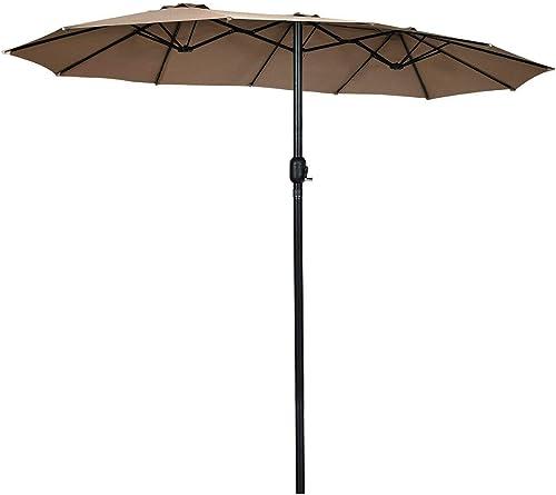 Tangkula 15 Ft Patio Umbrella Double-Sided Outdoor Market Table Umbrella