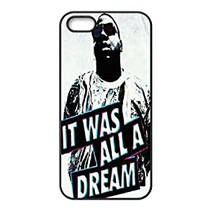 Customized Hard Back Phone Case for Iphone 5,5S Cover Case - Biggie Smalls HX-MI-065805