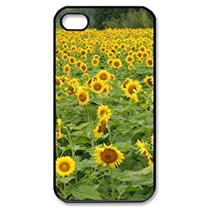 ALICASE Diy Customized hard Case Sunflower For Iphone 4/4s [Pattern-1]