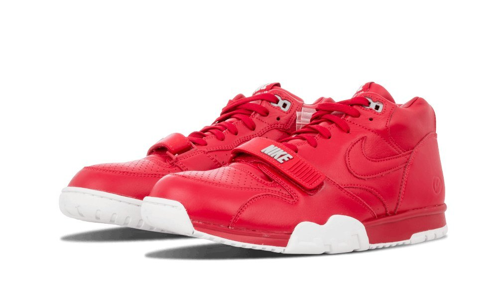 Nike Air Trainer 1 Mid SP/ Fragment Basketball Shoes Men's (US Size: 10.5) (10.5, Gym Red/White/Gym Red)