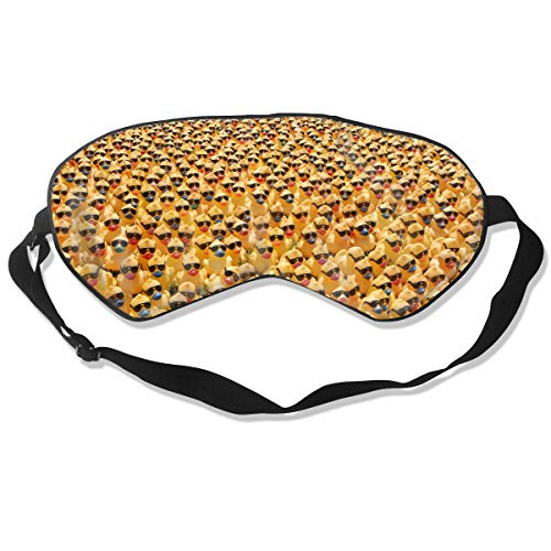 1 Pack Sleep Mask, Rubber Ducky with Sunglasses, Blackout Eye Cover for Sleeping, Comfortable Night Blindfold for Kids Girls Boys, Eye Shade with Adjustable Strap for Travel Nap