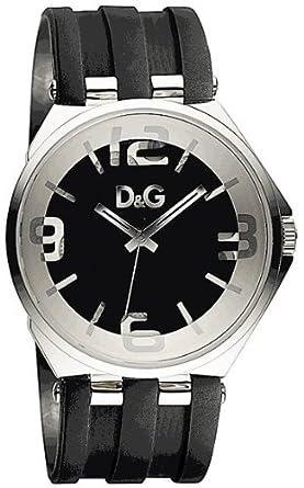 b33e5a3a61f Dolce   Gabbana - DW0582 - Montre Homme - Quartz Analogique - Bracelet en  Caoutchouc Noir