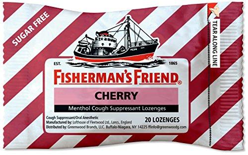 Fishermans Friend Sugar Free Cherry Menthol Drops Cough Suppressant Lozenges  20 Count