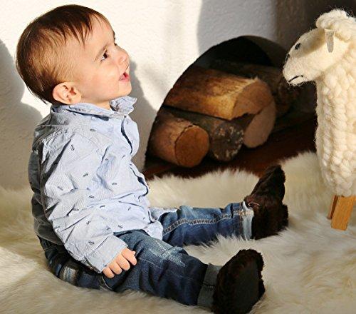 Hopsi Lapin Chaussures Fashion Laine Marron Chaussons Leather Bébé Enfants Chocolat Hollert Avec German f1IqY