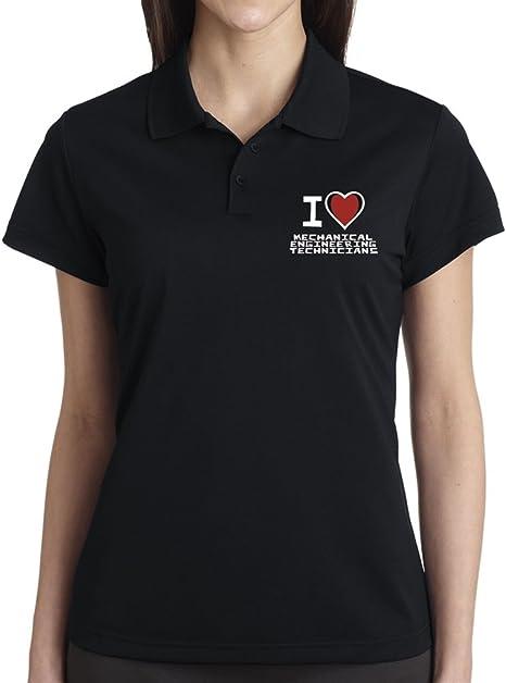 Yo Love camiseta oficial mecánico ingeniería Ladies Polo negro xxx-large: Amazon.es: Ropa y accesorios