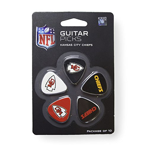 (Woodrow Guitar by The Sports Vault NFL Kansas City Chiefs Guitar Picks, 10 Pack)