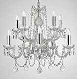 Empress Crystal ™ Chandelier Lighting Crystal Chandeliers With Chrome Sleeves H25″ X W24″ 10 LIGHTS! Review