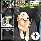 Pecute Dog Seat Covers for Cars SUV Truck, Pet Back Seat Protector Hammock for Dogs, Waterproof Scratchproof Nonslip Car Seat Cover with Eco-Friendly Bag and Dog Seat Belt