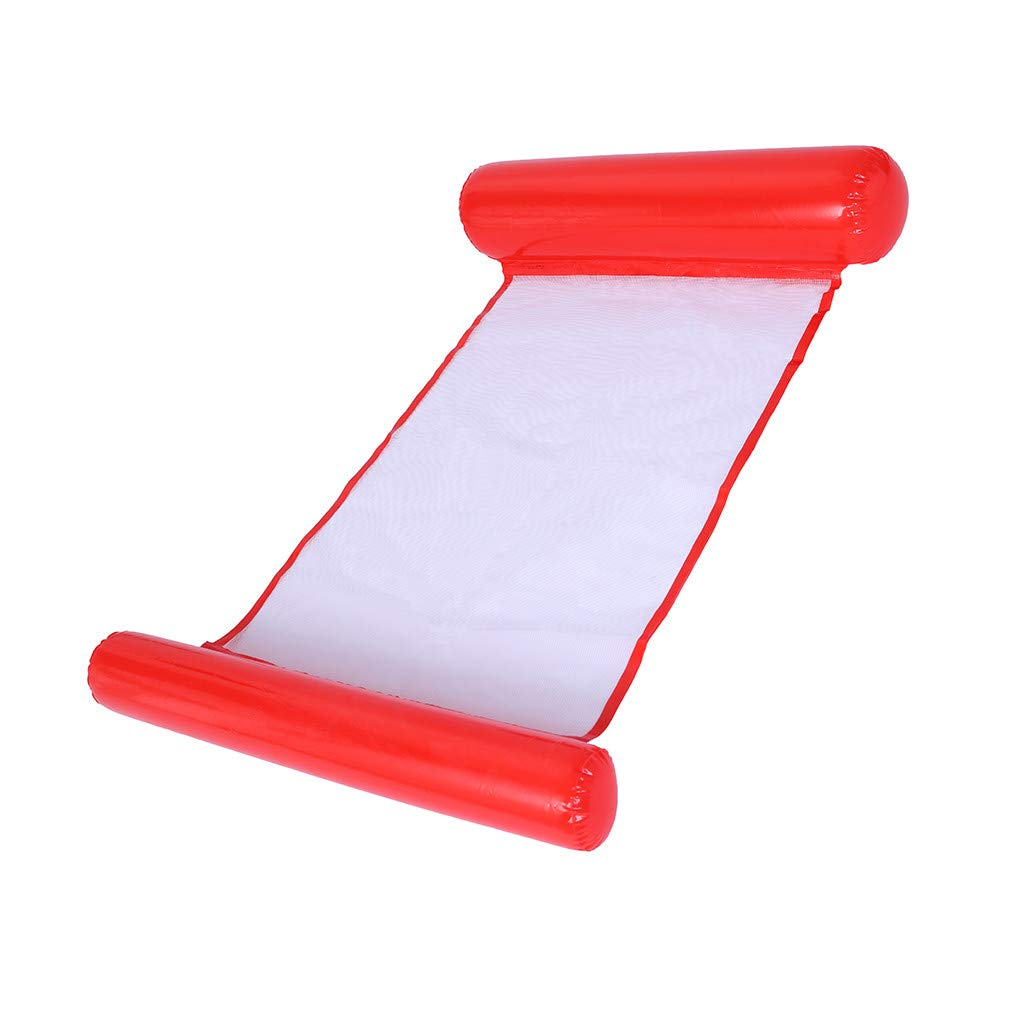 shamoluotuo Swimming Pool Float Hammock Lounge for Family Adults Kids Toddlers Inflatable Float Summer Swim Party Inflatable Floating Island Rafts for Swimming Pools Outdoor Toys (Red)