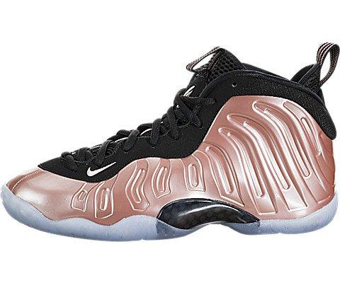 b81b4df36fb Nike Little Posite One Big Kids  Basketball Shoes Rust Pink White-Black  644791-601 (7 M US)