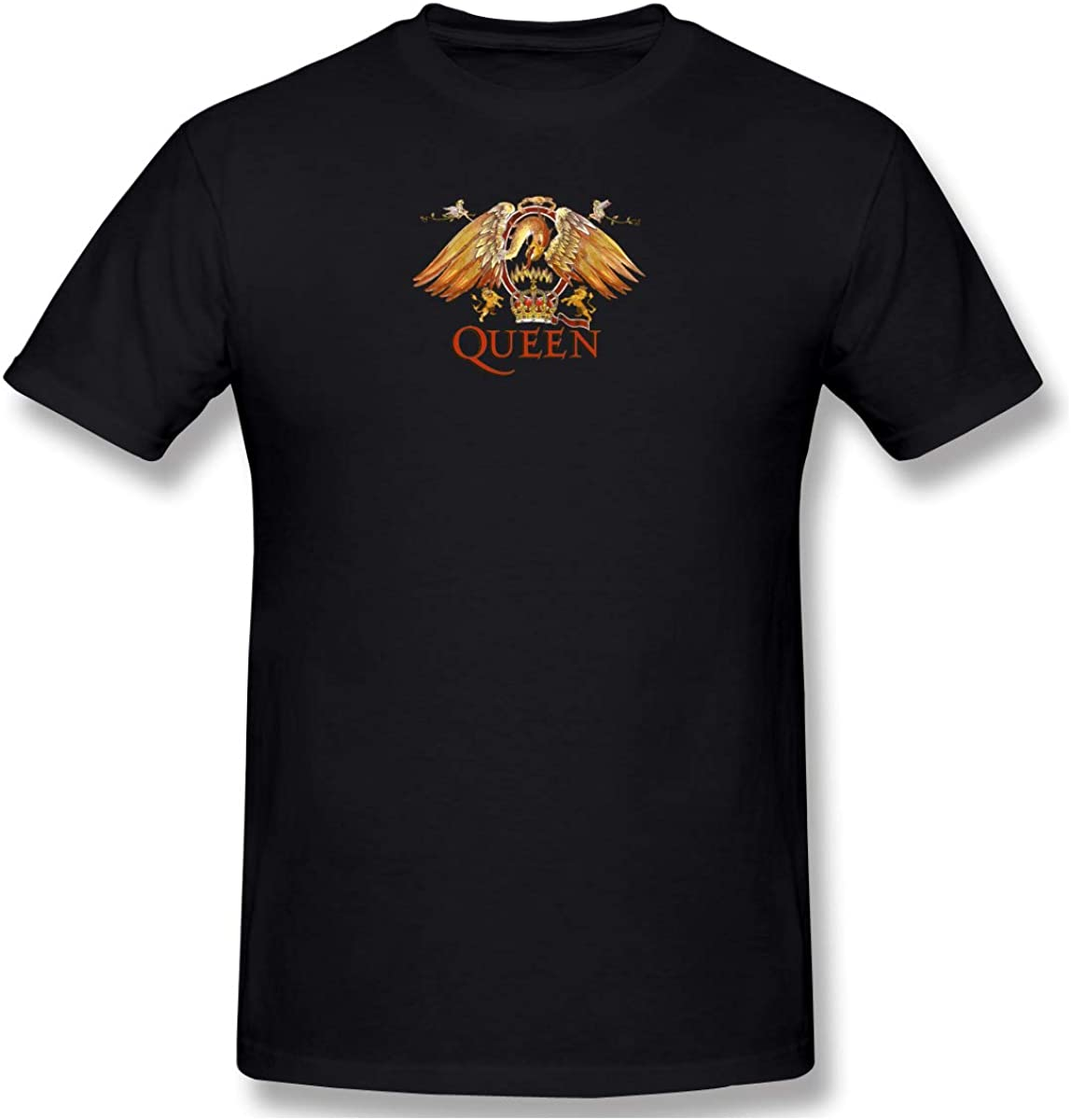 Queen Mens Short Sleeve T-Shirt Casual Classic Cotton T-Shirt with Round Collar Black The Ultimate Best of