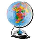 12.6'' Inch (32cm) Large Illuminated Blue Ocean Desktop World Earth Globe