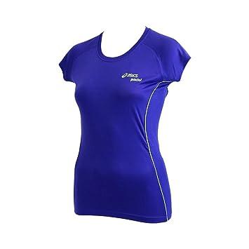 ASICS Tee Shirt Bleu Padel Top Running Femme: