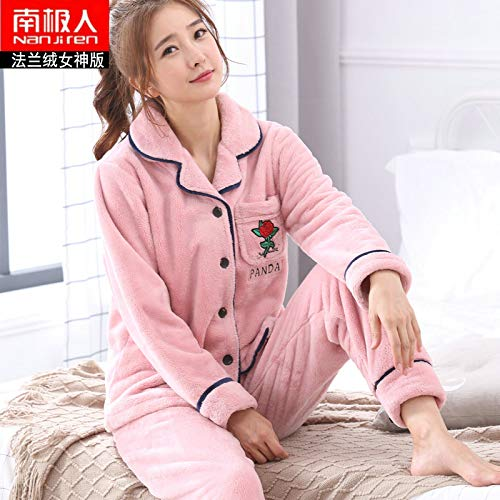NVYISHUI Pajamas Women S Winter Thick Coral Fleece Pajamas Women S Winter  Cute Flannel Ladies Home Service Suit  Amazon.co.uk  Sports   Outdoors 3fbeba03e