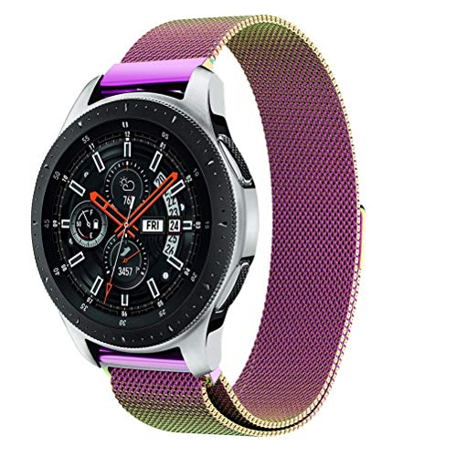YJYdada Milanese Magnetic Loop Stainless Steel Watch Band for Samsung Galaxy Watch (42MM, Multicolor)