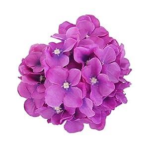 WINOMO Artificial Silk Hydrangea Flowers for Home Wedding Decoration 20pcs (Purple) 76