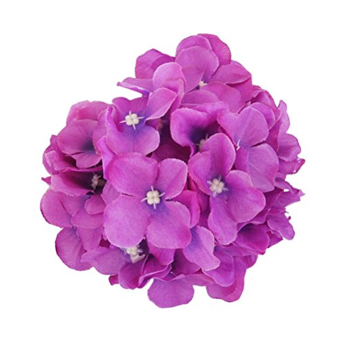 Hat Pink Hydrangea - WINOMO Artificial Silk Hydrangea Flowers for Home Wedding Decoration 20pcs (Purple)