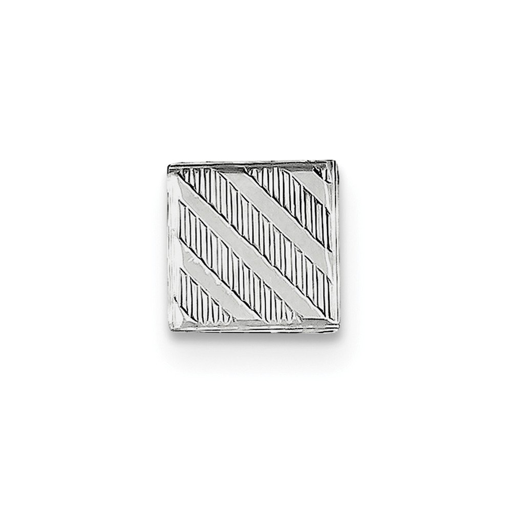 Solid 925 Sterling Silver Tie Tac (10mm x 10mm) by Sonia Jewels