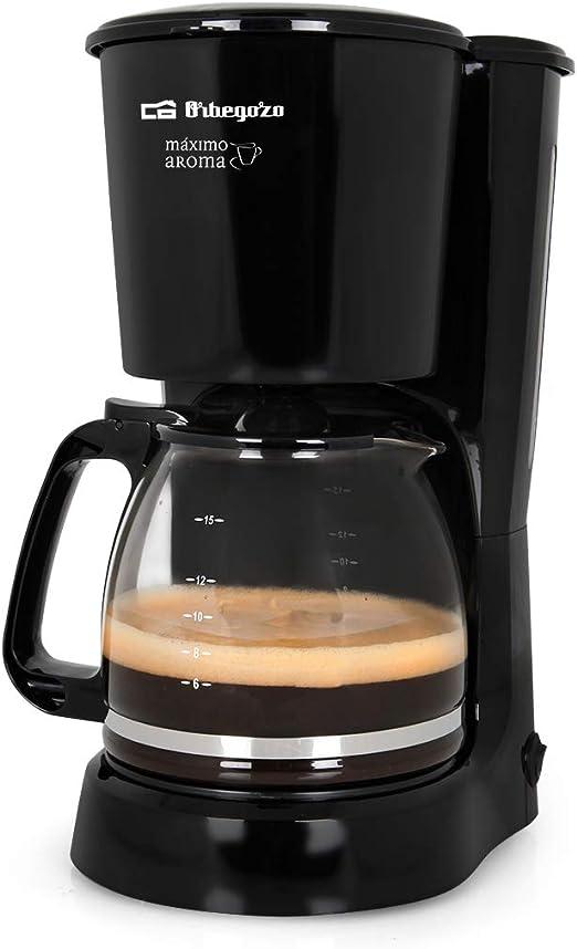 Orbegozo CG 4024 - Cafetera goteo, capacidad para 15 tazas, jarra de crital de 1,6 litros, 800 W de potencia: Amazon.es: Hogar