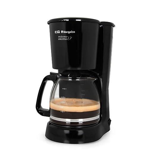 Orbegozo CG 4024 - Cafetera goteo, capacidad para 15 tazas, jarra de crital de 1,6 litros, 800 W de potencia