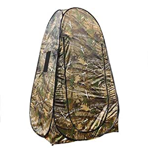 MegaBrand Portable Privacy Shower Toilet Camping Pop Up Tent Camouflage